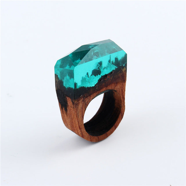 Secret Forest Wooden Ring For Women in 5 Colours Variation - wonderlandaccessories
