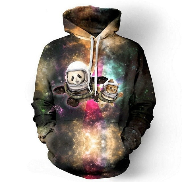 Panda and Cat Astronauts - wonderlandaccessories