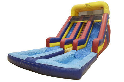 #2 - 17' Dual Lane Water Slide w/2 pools - For Smaller Children