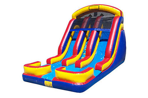 #3 - 18' 2 Lane Water Slide w/ splash pools - For Children only