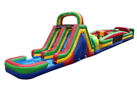 #12 - 18' Obstacle Water Slide w/pool