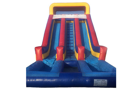 #7 - 21' Dual Lane Water Slide w/2 pools