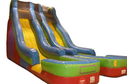 25' Super 2 Lane Dry Slide