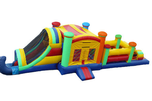 50' Fun House Obstacle Course / Bounce and Slide