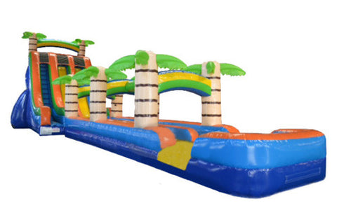 #9 - 27' 2 Lane Tropical Water Slide w/slip & slide