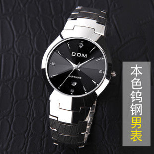 HK DOM Luxury Top Brand Men's Watch tungsten steel Wrist Watch waterproof Business Quartz watch Fashion Casual sport Watch