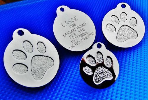 FREE ENGRAVING! Super heavy duty pet ID. Great for all sizes of Dogs (price includes engraving) Gold and Silver available