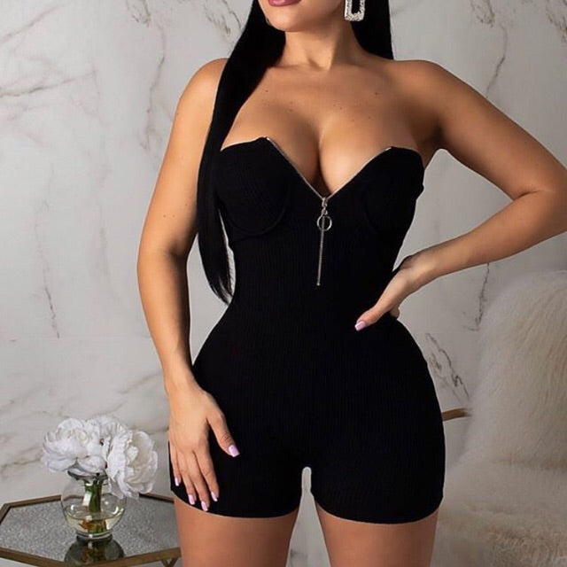 Zip Sweater Romper