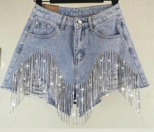 Diamonds flashing Denim shorts