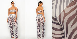 Zebra flirt 2piece set