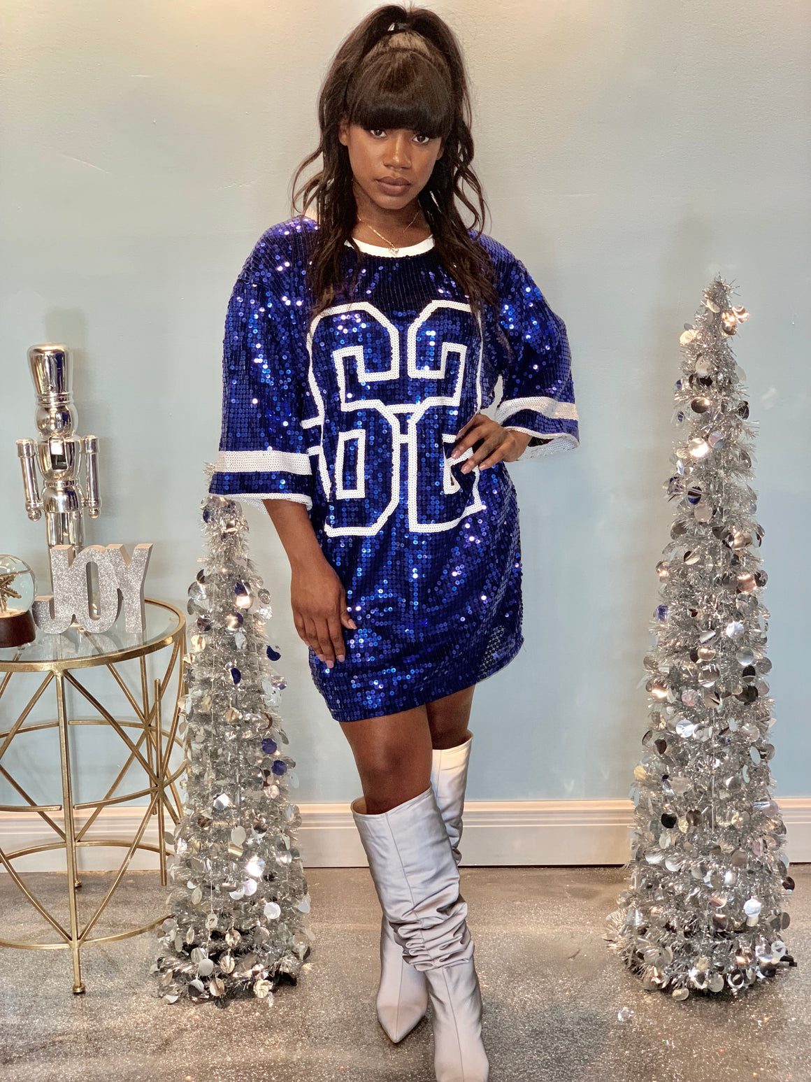 Team Player Sequins Jersey Dress