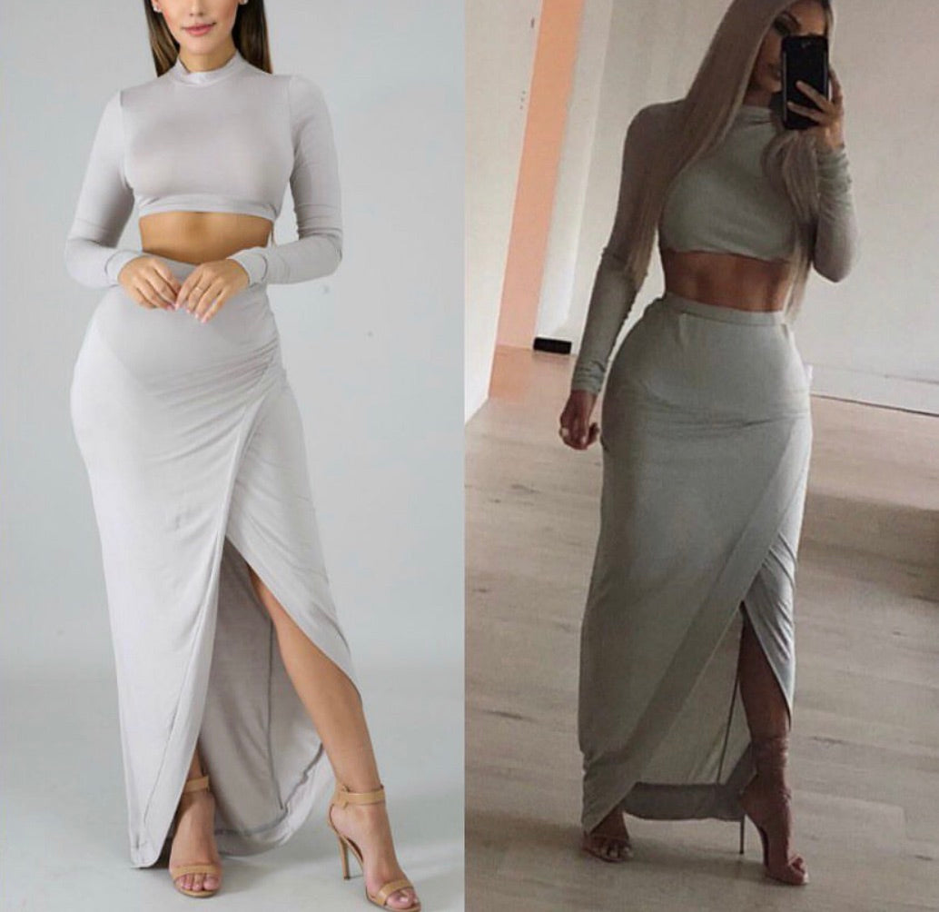 Kimmy Crop Wrap 2piece Skirt