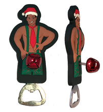 "Bobble Babes Woody Christmas Man Bottle Opener Refrigerator Magnet ""Dick In A Box"""