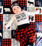 New to the Crew Buffalo Plaid Pant Set
