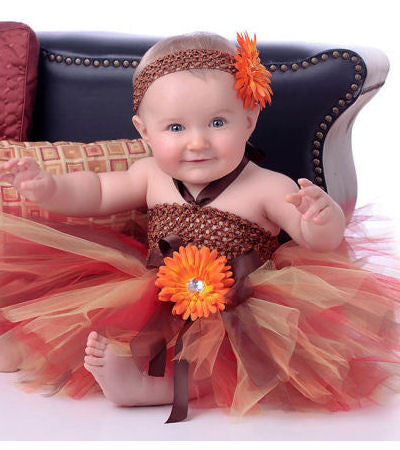 Autumn Princess Fall Thanksgiving Baby Tutu Dress