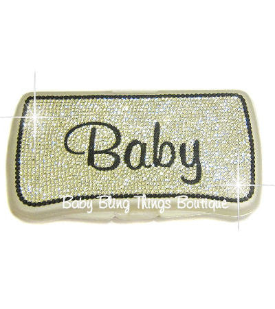Baby Swarovski Crystal Diaper Wipe Case