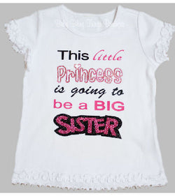 Big Sister Princess Rhinestone Shirt