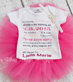 Birth Announcement Tutu Set
