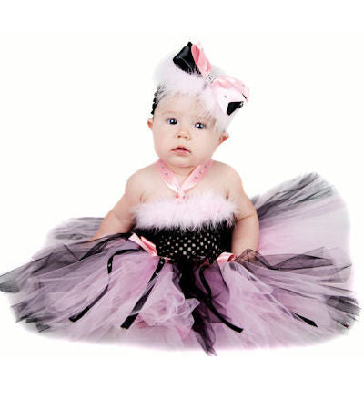 Bows Bling Marabou Baby Infant Tutu Dress