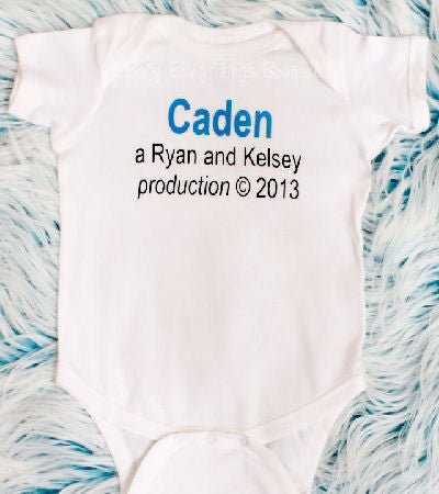 Custom Production Birth Year Newborn Boy Bodysuit