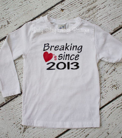Breaking Hearts Valentine Boys Shirt