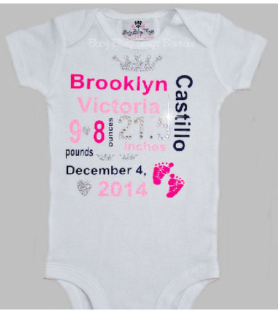 Birth Announcement Newborn Bodysuit