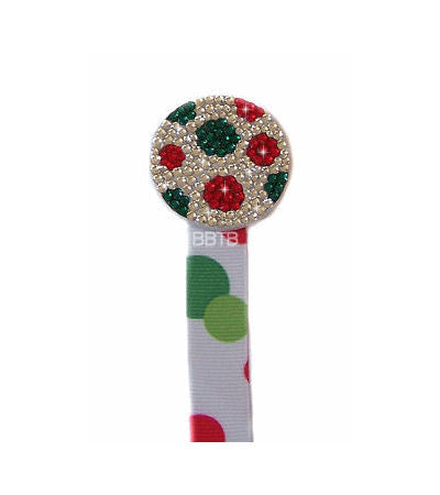 Christmas Rhinestone Crystal Pacifier Clip Attacher