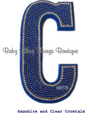 Custom Swarovski Crystal Nursery Bedroom Wall Letters