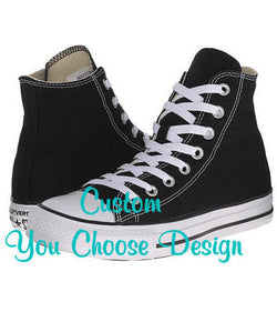 Custom Swarovski Crystal Toddler Kids Bling Converse Shoes