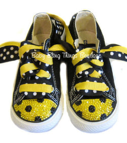 Bumble Bee Swarovski Crystal Bling Converse