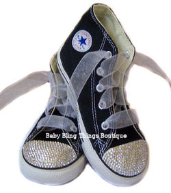 Black Diamond Swarovski Crystal Bling Shoes