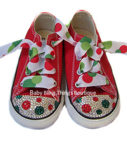 Christmas Dot Swarovski Crystal Bling Converse Shoes