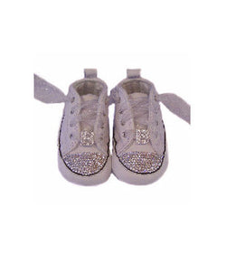 Initial Infant Swarovski Crystal Converse Crib Shoes
