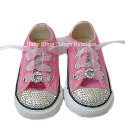 Initial Swarovski Crystal Bling Converse Shoes