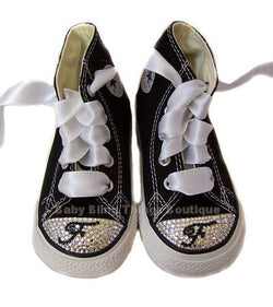 Initial on Toes Swarovski Crystal Converse Shoes