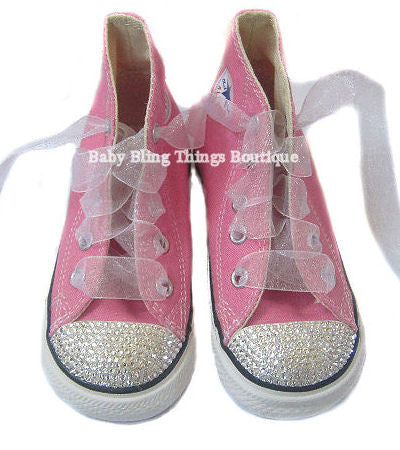 Clear Swarovski Crystal Toe Bling Converse Shoes