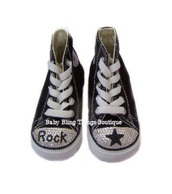 Rock Star Swarovski Crystal Bling Converse Shoes