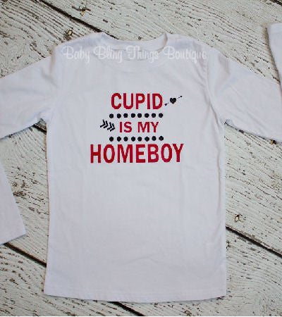 Cupid Is My Homeboy Valentine Boys Shirt