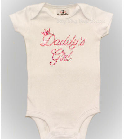 Daddy's Girl Princess Rhinestone Bodysuit Shirt
