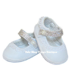 Diamond Strap Swarovski Crystal Baby Shoes