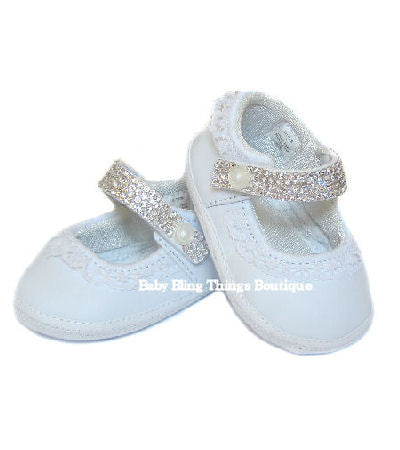 Diamond Strap Swarovski Crystal Baby Shoes – Baby Bling Things Boutique 6a10f24c42