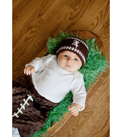 Football Knit Baby Hat