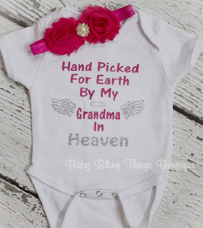 Handpicked for Earth by my Grandma In Heaven Bodysuit