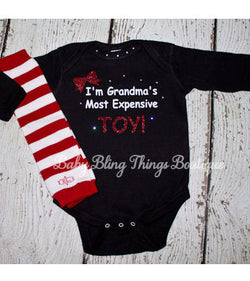 I'm Grandma's Most Expensive Toy Baby Funny Bodysuit