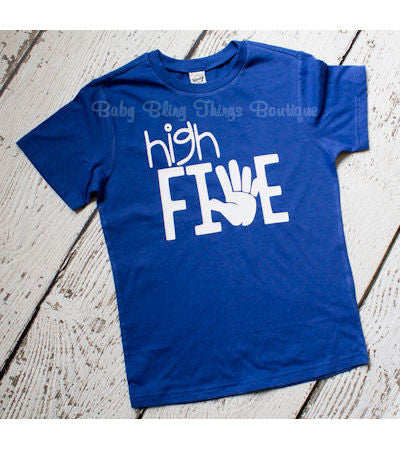 High Five 5th Birthday Boy Shirt
