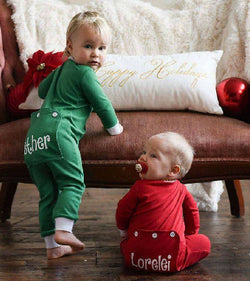 Holly Jolly Christmas Personalized Infant Kids Pajamas