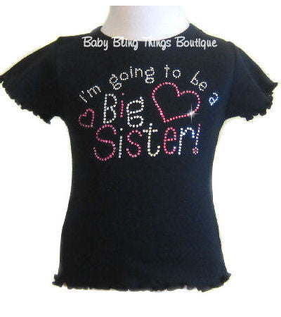 I'm going to be a big sister rhinestone crystal shirt
