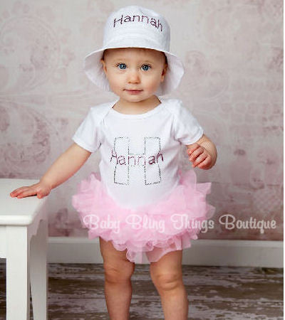 Personalized Initial Infant Tutu One Piece