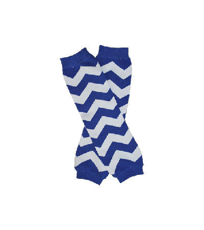 Blue Chevron Baby Infant Toddler Leg Warmers