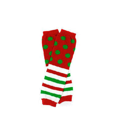 Christmas Stripes & Polka Dots Infant Toddler Leg Warmers
